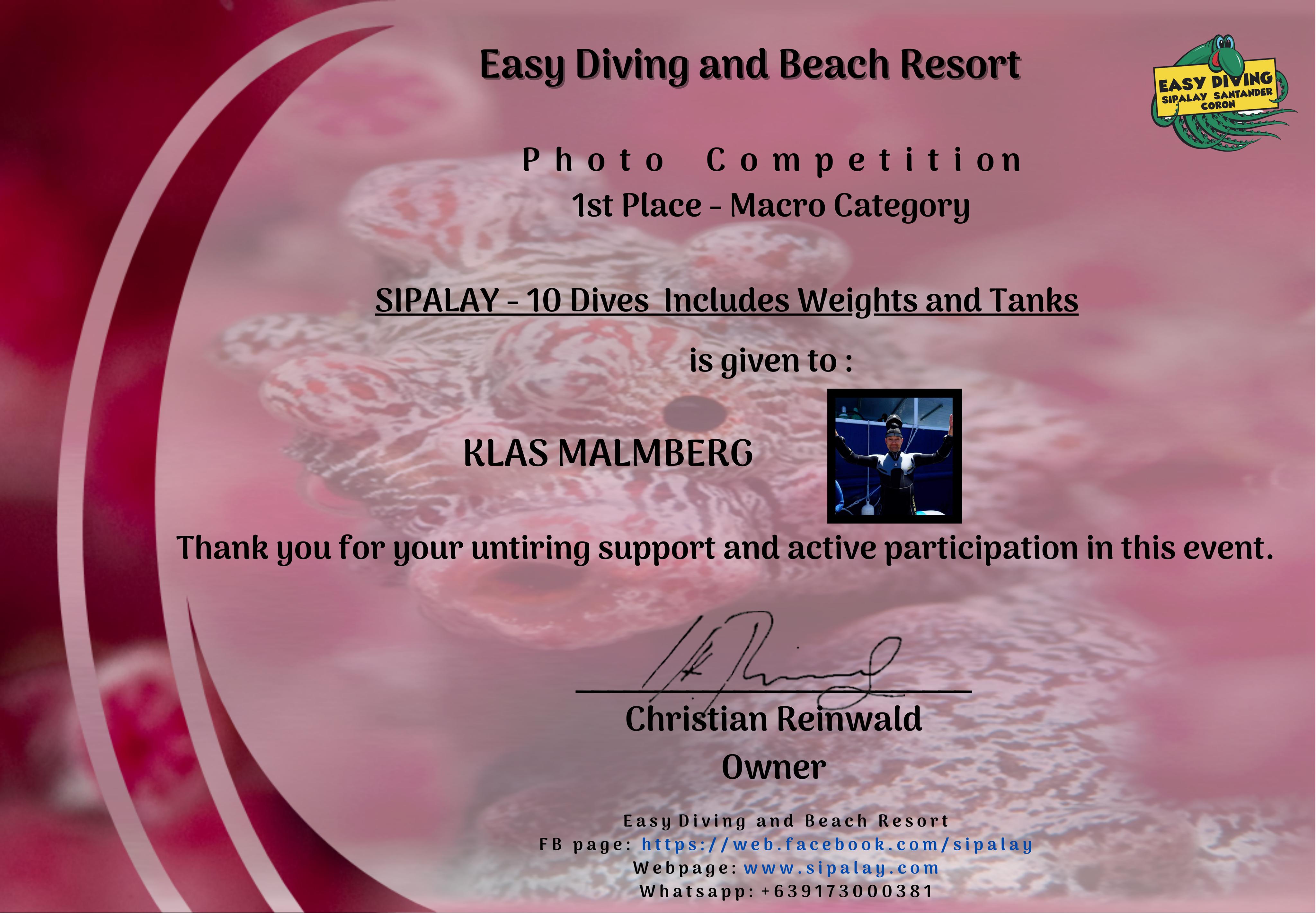 Unterwasser Foto Wettbewerb